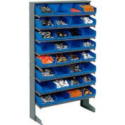 8 Shelf Floor Rack With 32 Bins 8 Inch Wide 33x12x61