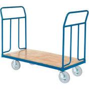 "Wood Deck Platform Truck 8"" Pneumatic Wheels 2400 Lb. Capacity"