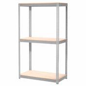 "Expandable Starter Rack 60""W x 36""D x 84""H Gray With 3 Level Wood Deck 1000lb Cap Per Deck"