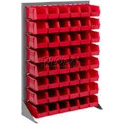 Global Industrial™ Singled Sided Louvered Bin Rack 35 x 15 x 50 - 42 Red Premium Stacking Bins