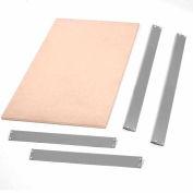 """Bulk Rack Shelf Wood Deck 48""""W x 24""""D Gray"""