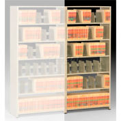 Imperial Shelving Add-On 36x15x76 - 6 Openings Sand