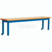 Riser With Out Power Center ESD Top 72inch Long Blue