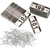 Global Industrial™ Locker Number Plate Kit - Pkg Of 199 Numbered 101-299