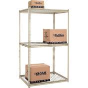 "High Capacity Starter Rack 48""W x 24""D x 84""H With 3 Levels Wire Deck 1500lb Cap Per Shelf"