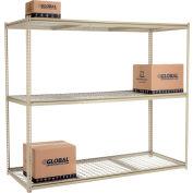 "High Capacity Starter Rack 96""W x 48""D x 84""H With 3 Levels Wire Deck 800lb Cap Per Shelf"