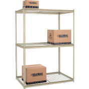 "High Capacity Starter Rack 60""W x 48""D x 96""H With 3 Levels Wire Deck 1300lb Cap Per Shelf"