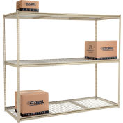 "High Capacity Starter Rack 96""W x 48""D x 96""H With 3 Levels Wire Deck 800lb Cap Per Shelf"
