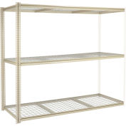 """High Capacity Add-On Rack 96""""W x 24""""D x 96""""H With 3 Levels Wire Deck 800 Lb Cap Per Level"""