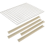 """Global Industrial™ Additional Level For 48""""W x 36""""D High Capacity Rack Wire Deck - Tan"""