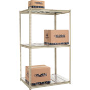 "High Capacity Starter Rack 48""W x 24""D x 84""H With 3 Level Steel Deck 1500lb Cap Per Shelf"