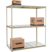 "High Capacity Starter Rack 72""W x 24""D x 84""H With 3 Level Steel Deck 1000lb Cap Per Shelf"
