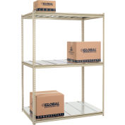 "High Capacity Starter Rack 60""W x 36""D x 96""H With 3 Level Steel Deck 1300lb Cap Per Shelf"