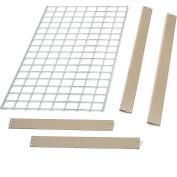 """Bulk Rack Shelf Wire Deck 36""""W x 18""""D Tan"""