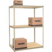 "High Capacity Starter Rack 60""W x 24""D x 84""H With 3 Levels Wood Deck 1300lb Cap Per Shelf"