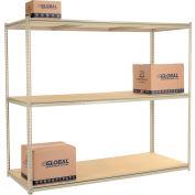 "High Capacity Starter Rack 96""W x 24""D x 84""H With 3 Levels Wood Deck 800lb Cap Per Shelf"