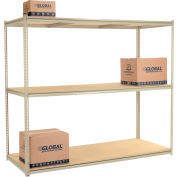 "High Capacity Starter Rack 96""W x 48""D x 84""H With 3 Levels Wood Deck 800lb Cap Per Shelf"
