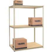 "High Capacity Starter Rack 60""W x 48""D x 96""H With 3 Levels Wood Deck 1300lb Cap Per Shelf"