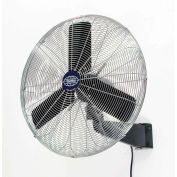 "24"" Industrial Wall Mounted Fan - Oscillating - 7525 CFM - 1/4 HP"