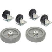 Replacement Caster Kit for Global Industrial™ Wood & Steel Deck Narrow Aisle Platform Trucks