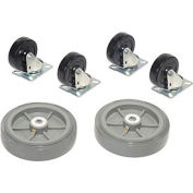 Replacement Caster Kit for Global Industrial™ Wood & Steel Deck Narrow Aisle Platform Trucks