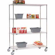 Nexel® Stainless Steel Wire Shelf Truck 60x24x80 1200 Lb. Capacity