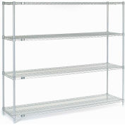 """Nexel Stainless Steel Wire Shelving 72""""W X 18""""D X 63""""H"""