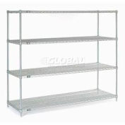"""Nexel Stainless Steel Wire Shelving 72""""W X 24""""D X 63""""H"""