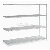 """Nexel Stainless Steel Wire Shelving Add-On 54""""W X 18""""D X 63""""H"""