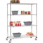 Nexel® Stainless Steel Wire Shelf Truck 60x18x69 1200 Lb. Capacity