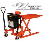 Battery Operated High Lift Skid Truck 2200 Lb. Capacity 27 x 44-1/2 Forks