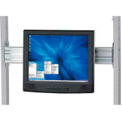 "Flat Panel Monitor Track For 24"" LAN Station"