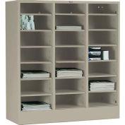 Tennsco Literature Organizer Cabinet 4075-SND - 21 Openning Letter Size - Sand