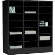 Tennsco Literature Organizer Cabinet 5075-BLK - 21 Openning Legal Size- Black