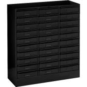 "Tennsco Drawer Cabint 3085-BLK - 30 Drawer Legal Size, 30-5/8""W X 14-5/8""D X 33-7/16""H, Black"