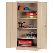 Paramount™ Storage Cabinet Easy Assembly 36x18x78 Tan