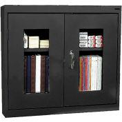 Sandusky Clear View Wall Cabinet WA1V301226 Double Door - 30x12x26, Black