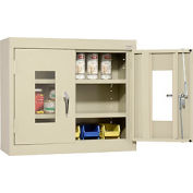 Sandusky Clear View Wall Cabinet WA1V301226 Double Door - 30x12x26, Putty