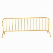 "Crowd Control Barrier Powder Coated Yellow 102""L x 40""H x 1-1/4"" Dia."