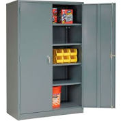"""Global Industrial™ Storage Cabinet With Turn Handle, Gray, 48""""W x 24""""D x 78""""H"""