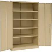 Global™ Storage Cabinet Easy Assembly 48x24x78 Tan