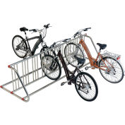 Grid Bike Rack, 10-Bike, Double Sided, Powder Coated Steel