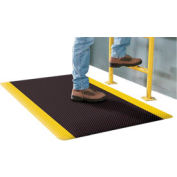 Supreme Sliptech Mat 11/16 Thick 4ft W Cut Length To 60ft Black W/Yellow Border