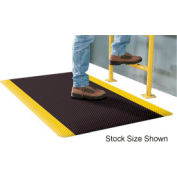 Supreme Sliptech Mat 11/16 Thick 2ft Wide Full 60ft Roll Black W/Yellow Border
