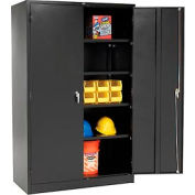 "Global Industrial™ Storage Cabinet, Turn Handle, 48""Wx24""Dx78""H, Black, Assembled"