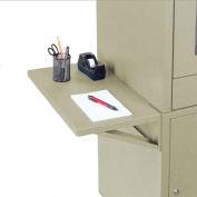 Side Shelf Kit for Global Industrial™ Computer Cabinet, Putty, Set of 2