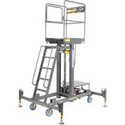 "One Person Lift 20""L x 28""W Platform - Hydraulic Hand Pump Lift"