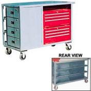 10 Drawer Service Bench 48x24x39