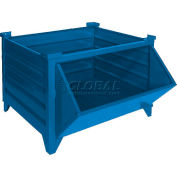 """Topper Stackable Steel Container 51009BHF Solid, Hopper Front, 42""""L x 42""""W x 24""""H, Blue"""