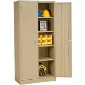 Global Industrial™ Storage Cabinet Assembled 36x18x78 Tan